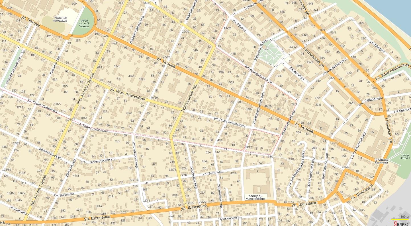 карта таганрог